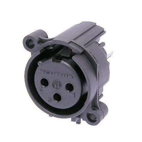 Neutrik NC3FAV-0 3 Pin XLR-F A-Series Connector NC3FAV-0