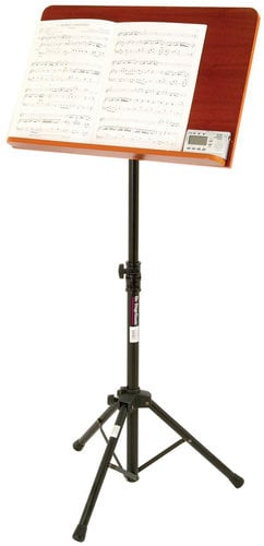 On-Stage Stands SM7312W Conductor Stand with Wide Rosewood Bookplate SM7312W