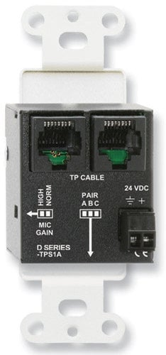 RDL DB-TPS1A Active Single Pair Sender - Twisted Pair Format-A - XLR Microphone Input with Phantom DB-TPS1A