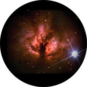 Rosco Laboratories 86667 Deep Nebula Glass Gobo 86667