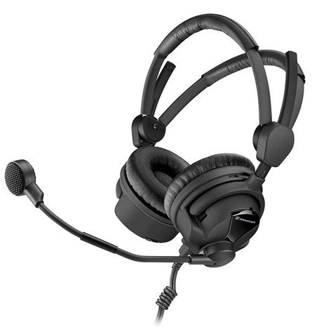 Sennheiser HMD 26-II-100-8 100 Ohm Broadcast Headset with Hypercardioid Dynamic Boom Microphone and Unterminated Ends HMD26-II-100-8