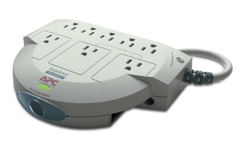 American Power Conversion PER8T 120V 8 Outlet Personal SurgeArrest with Phone Line Protection PER8T