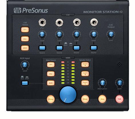 PreSonus MONITORSTATION-V2EDU Monitor Station V2 [EDUCATIONAL PRICING] Desktop Studio Control Center MONITORSTATION-V2EDU