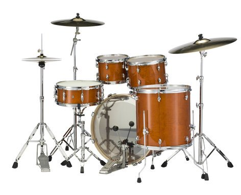 Pearl Drums EXL725S-249 5 Piece Drum Kit in Honey Amber Lacquer Finish with 830 Series Hardware EXL725S-249