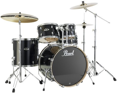 Pearl Drums EXL725-248 5 Piece Drum Kit in Black Smoke Lacquer Finish with 830 Series Hardware EXL725-248