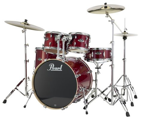 pearl drums exl725 246 5 piece drum kit in natural cherry lacquer finish with 830 series. Black Bedroom Furniture Sets. Home Design Ideas