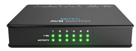 MOTU AVB Switch Five-Port AVB Ethernet Switch AVB-SWITCH