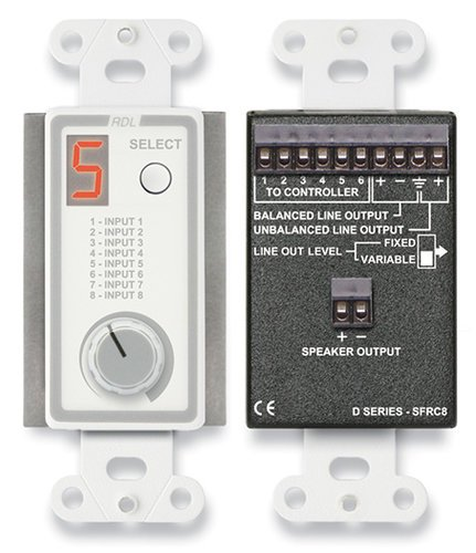Radio Design Labs D-SFRC8 Room Control Station for SourceFlex Distributed Audio System D-SFRC8