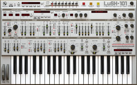 D16 Group LuSH-101 Polyphonic Synthesizer Software Instrument Plugin