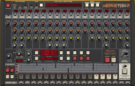 D16 Group Nepheton TR-808 Emulation Software Instrument Plugin NEPHETON