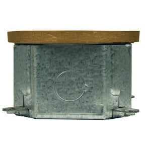Lowell MO1-NC3FD  Octagonal Floor Box with 1 Punch Brass Lid MO1-NC3FD