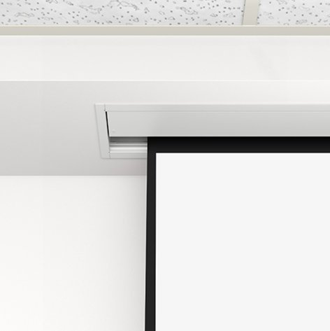 "Da-Lite 84328LS  133"" 16:9 HDTV Format Advantage Electrol Ceiling Recessed Electric Screen 84328LS"