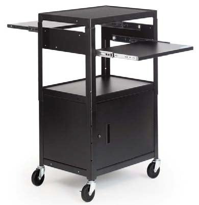"Bretford Manufacturing CA2642DNS-E 5 Adjustable Multimedia Cab Cart with 5"" Caster CA2642DNS-E"