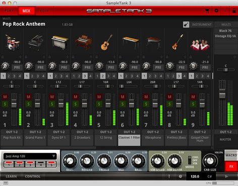 IK Multimedia SAMPLETANK-3-FULL SampleTank 3 Sample Workstation Virtual Instrument Software Plugin SAMPLETANK-3-FULL