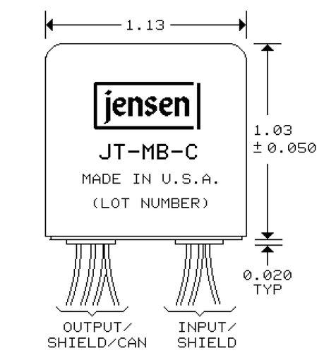 Jensen Transformers JT-MB-C Microphone Bridging Transformer JT-MB-C-JENSEN
