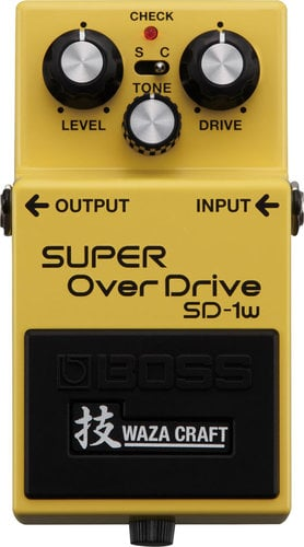 Boss SD-1W Waza Craft Special Edition Super Overdrive Analog Guitar Distortion Pedal SD-1W