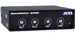 Audio Technologies Inc. BI400 IHF to PRO, 4 Channel INterface Converter with RCA to XLR BI400