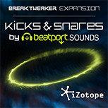 iZotope KICK-SNARE Kicks & Snares BreakTweaker Sound Library KICK-SNARE