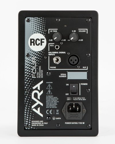 "RCF AYRA 4 Pair of 4"" 2-Way Active Studio Monitors in Black AYRA-4-PAIR-BLK"