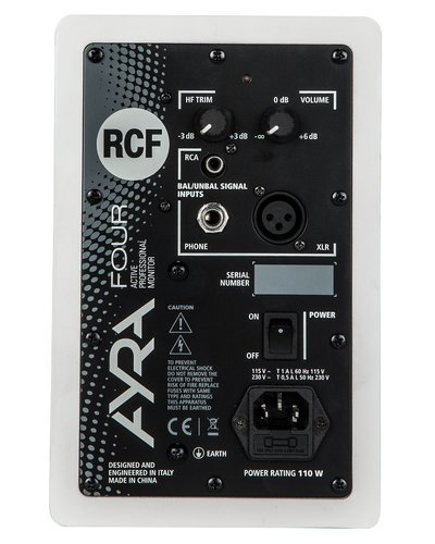 "RCF AYRA-4-PAIR-WHT Pair of 4"" 2-Way Active Studio Monitors in White AYRA-4-PAIR-WHT"