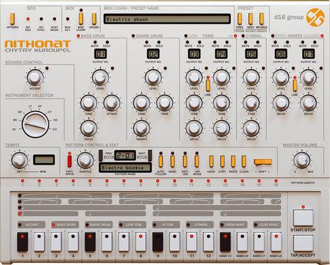 D16 Group Nithonat TR-606 Emulation Software Instrument Plugin NITHONAT