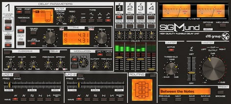 D16 Group Sigmund Quadruple Delay Software Plugin SIGMUND