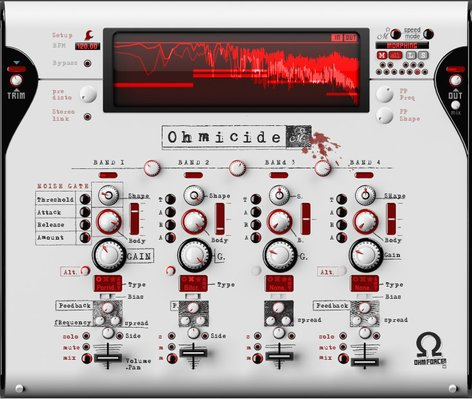 OHM Force Ohmicide Multi-Band Distortion Software Plugin OHMICIDE