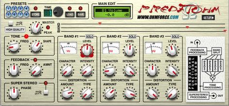 OHM Force Predatohm 3-Band Overdrive Software Plugin PREDATOHM