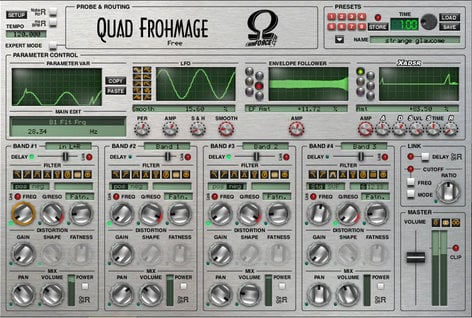 OHM Force Quad Fhromage 4-Band Sonic Chisel Software Plugin QUAD-FROHMAGE