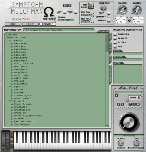 OHM Force Symptohm Sample Player/Granular Synthesizer Virtual Instrument Software Plugin SYMPTOHM