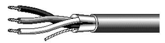 West Penn 303-1000  Cable 18ga 3-conductor, Shielded,  1000' 303-1000