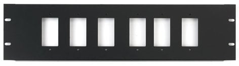 Chief Manufacturing DCR-3X6  3RU Rack Panel for 6 Decora Devices DCR-3X6