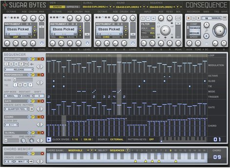 Sugar Bytes Consequence Chord Sequencer Software Instrument Plugin CONSEQUENCE