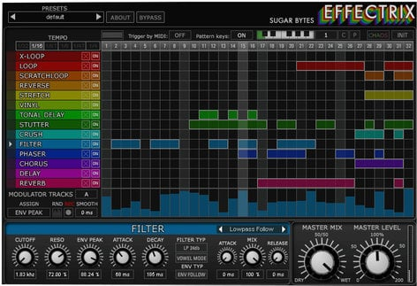 Sugar Bytes Effectrix Effect Sequencer Software Plugin EFFECTRIX