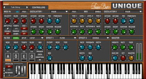 Sugar Bytes Unique Vowel Synthesizer Software Instrument Plugin UNIQUE