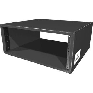 Grundorf Corp RSB-04DB  4 Space Rack Shell in Black Finish RSB-04DB