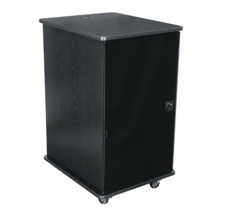 """Middle Atlantic Products MFR-2027GC 20 RU 27"""" Deep Mobile Rack with Casters and Plexi Glas Door in Dark Cherry Finish MFR-2027GC"""
