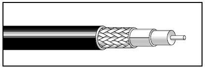 West Penn 819 Cable  RG59/U 20ga Hi-Res, SDI, 1000ft, black 819-WEST-PENN-BLACK