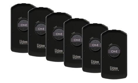 Listen Technologies LP-50-072-01 Pack of (6) LR-5200-072 Intelligent DSP Receivers for Multi-Channel Applications LP-50-072-01