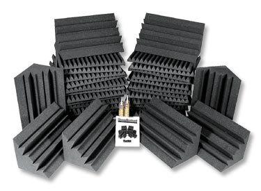 Auralex PROJ2ROOM-BUR 24-Piece Roominator Acoustic Treatment Kit in Burgundy PROJ2ROOM-BUR