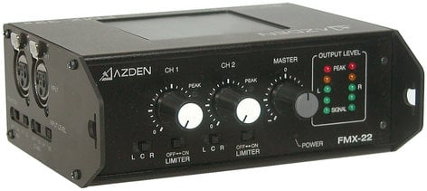 Azden FMX-22 2 Channel Portable Microphone Mixer FMX22