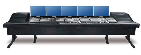 "Argosy Consoles 90-90V2RGE-VR1003-B-B 90V Series Universal Workstation with (2) 10 Space Racks & Black Trim Panels, 148.5"" Length 90-90V2RGE-VR1003-BB"