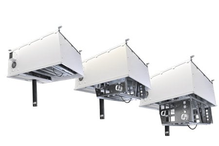 FSR, Inc CB-224S  2ft x 2ft High Capacity Ceiling Box with 4U Drop Down Rack and Smart Power Module CB-224S