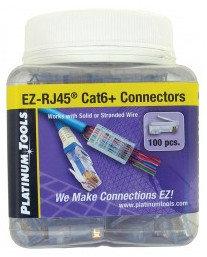 Platinum Tools 202016J  100 Count Jar of EZ-RJ45 Cat6+ 50/50 Combo Connectors 202016J
