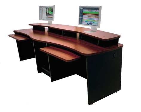 Omnirax Gemini Two Person Workstation Console With 20 Total Rack Es