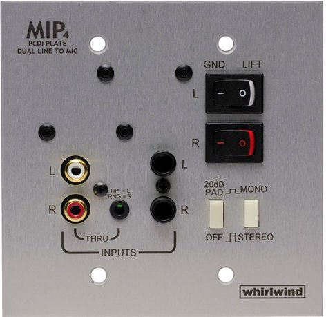 Whirlwind MIP4S  Media Input Plate,Stainless  MIP4S