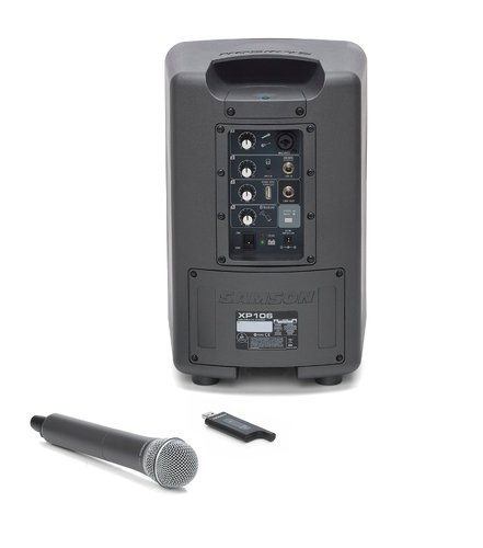 Samson XP106W Expedition XP106w Rechargeable Portable PA System with Handheld Wireless Microphone and Bluetooth XP106W