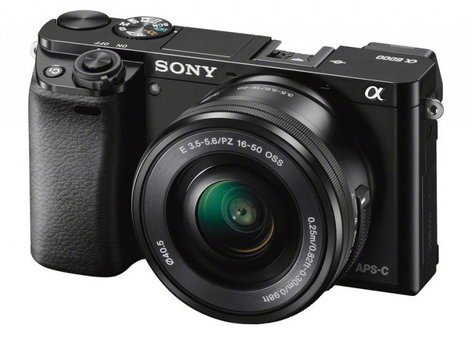 Sony ILCE-6000L/B a6000 Mirrorless Compact Digital SLR Camera with SELP1650 Lens ILCE-6000L/B