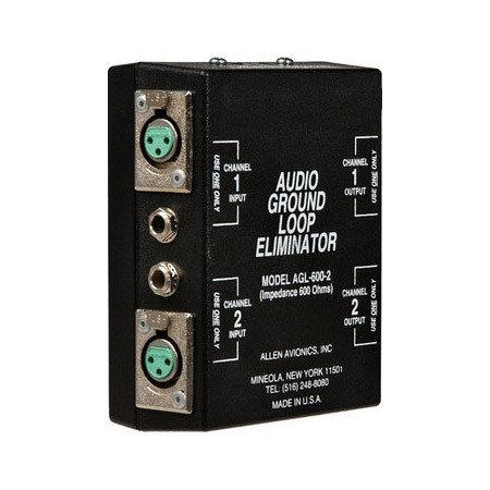 TecNec AGL-600-2  Audio Ground Loop Isolation Transformer AGL-600-2