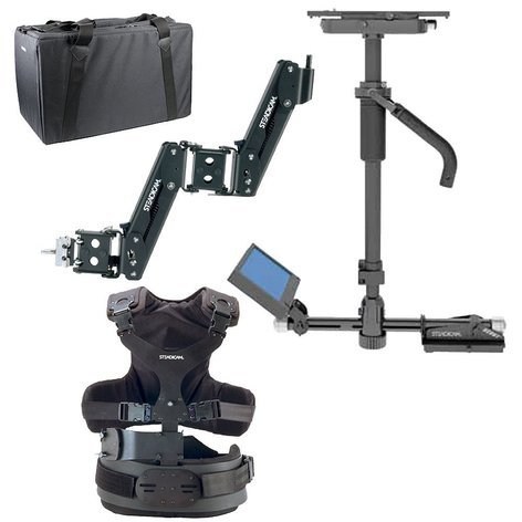Steadicam SCBXHSBVFA ScoutHD System with Sled, V-Mount, Arm, Vest, HD Monitor, 2x Batteries, and VL-2Plus Charger SCBXHSBVFA